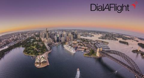 Sydney Harbour aerial with views of Royal Botanic Garden, the CBD, Sydney Opera House and Sydney Harbour Bridge