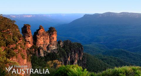 Three sisters in Katoomba, Blue Mountains