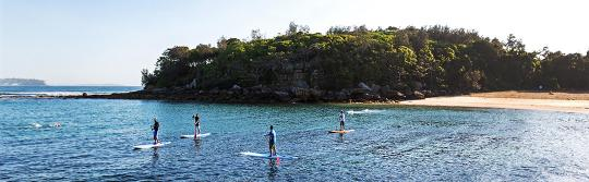 Stand up paddleboarding, Shelly Beach, Manly